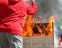 Protipožiarna guľa ELIDE FIRE v akcii, zdroj: pozary.cz