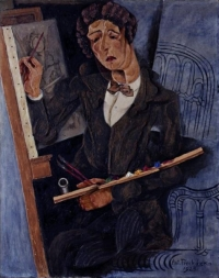 Antonín Procházka, Maliar, olej, plátno, 70 x 55, 1923, zdroj: gmb.sk